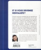 Et si vous deveniez mentaliste ? - 4ème de couverture - Format classique