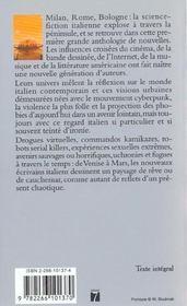 Fragments d'un miroir brisé. anthologie de la nouvelle science-fiction italienne - 4ème de couverture - Format classique
