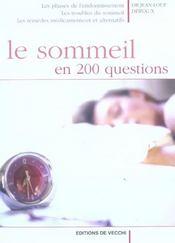 Sommeil En 200 Questions (Le) - Intérieur - Format classique