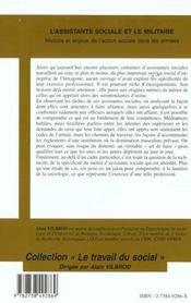 L'Assistante Sociale Et Le Militaire ; Histoire Et Enjeux De L'Action Sociale Dans Les Armees - 4ème de couverture - Format classique