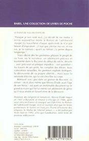Le Roman De L'Adolescent Myope Babel 95 - 4ème de couverture - Format classique