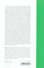 Aimons La Ville ! - 4ème de couverture - Format classique