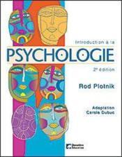 Introduction a la psychologie (2ed) - Couverture - Format classique