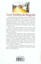 Oublies de bogota - 4ème de couverture - Format classique