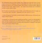 Les mots de gabin - 4ème de couverture - Format classique