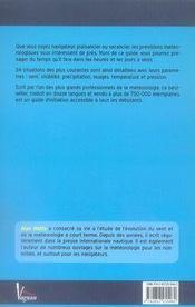 Mémento vagnon des prévisions météorologiques (2e édition) - 4ème de couverture - Format classique