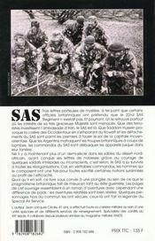 Les sas, commandos secrets de sa majeste - 4ème de couverture - Format classique