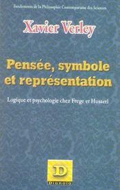 Pensee, Symbole Et Representation ; Logique Et Psychologie Chez Frege Et Husserl - Intérieur - Format classique