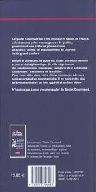 Les 1000 Meilleures Tables De France ; Edition 2002 - 4ème de couverture - Format classique