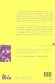 REVUE CHAMP LACANIEN N.4 ; la parenté ; les voies de la transmission - 4ème de couverture - Format classique