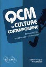 QCM de culture contemporaine - Couverture - Format classique