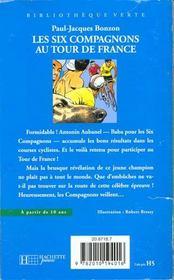 Les Six Compagnons Au Tour De France - 4ème de couverture - Format classique