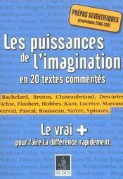 Les puissances de l'imagination en 20 textes commentes - Intérieur - Format classique