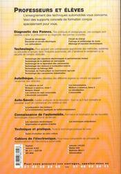 Ct Le Systeme De Freinage - 4ème de couverture - Format classique