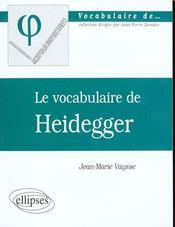 Heidegger - Intérieur - Format classique