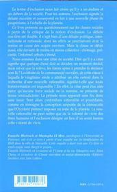 Defaite Ouvriere Et Exclusion - 4ème de couverture - Format classique