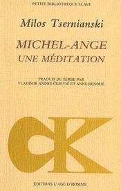 Michel-Ange ; Une Mediation - Intérieur - Format classique