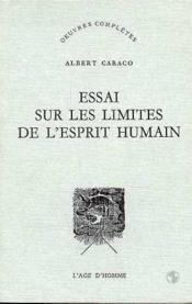 Essai Sur Limites L'Esprit Humain - Couverture - Format classique