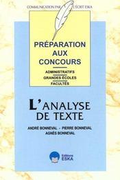 Analyse De Texte (L') - Intérieur - Format classique