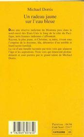 Un Radeau Jaune Sur L'Eau Bleue - 4ème de couverture - Format classique