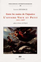 Entre Les Mains De L Injustice - Couverture - Format classique