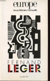 Europe Fernand Leger 818 819 - Couverture - Format classique