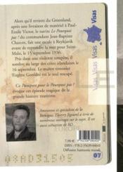 Passeport Pour ; Le Pourquoi Pas ; Dernier Voyage Du Commandant Charcot - 4ème de couverture - Format classique
