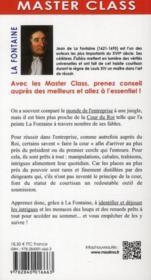 Jean de la Fontaine ; leçons pour survivre en entreprise au milieu des loups et des renards - 4ème de couverture - Format classique