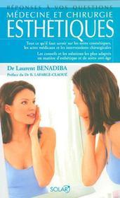 Medecine et chirurgie esthetiques - Intérieur - Format classique