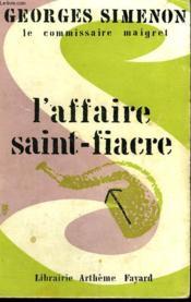 L'Affaire Saint-Fiacre. - Couverture - Format classique