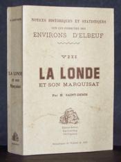 La Londe et son Marquisat - Couverture - Format classique