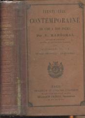Histoire contemporaine de 1789 à nos jours - Tome second: 1848-1890 - Couverture - Format classique