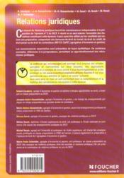 Relations Juridiques De Credit Decf Ep N 2 Manuel - 4ème de couverture - Format classique