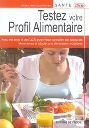 Testez Votre Profil Alimentaire - Intérieur - Format classique