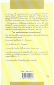 Omega 3 Omega 6 ; L'Equilibre Vital - 4ème de couverture - Format classique