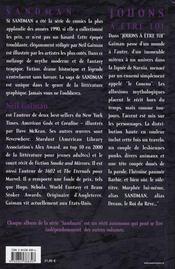 Sandman t.5 ; jouons à être toi - 4ème de couverture - Format classique