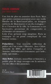 Fausse Commune - 4ème de couverture - Format classique