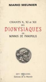 Dionysiaques De Nonnos De P. - Couverture - Format classique