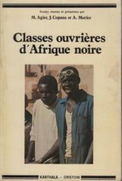 Classes Ouvrieres D'Afrique Noire - Couverture - Format classique