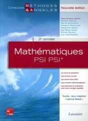 Mathématiques ; 2e année PSI PSI* - Couverture - Format classique