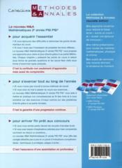 Mathématiques ; 2e année PSI PSI* - 4ème de couverture - Format classique