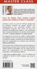 Confucius ; 18 leçons pour réconcilier éthique et performance - 4ème de couverture - Format classique