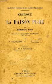 Critique De La Raison Pure - Couverture - Format classique