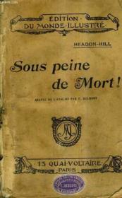 Sous Peine De Mort - Un Peril Dans L'Air. - Couverture - Format classique