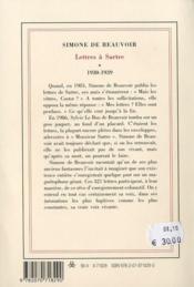 Lettres à Sartre t.1 - 4ème de couverture - Format classique
