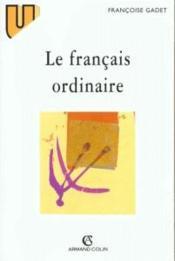 Le francais ordinaire - Couverture - Format classique