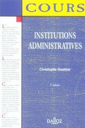 Institutions Administratives - Intérieur - Format classique