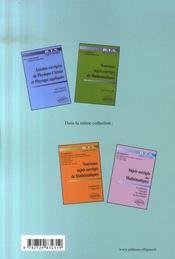Annales corrigées de physique-chimie et physique appliquée ; bts industriels - 4ème de couverture - Format classique