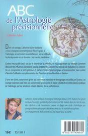 Abc de l'astrologie prévisionnelle - 4ème de couverture - Format classique