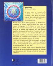 Mandalas : miroir de la paix - 4ème de couverture - Format classique